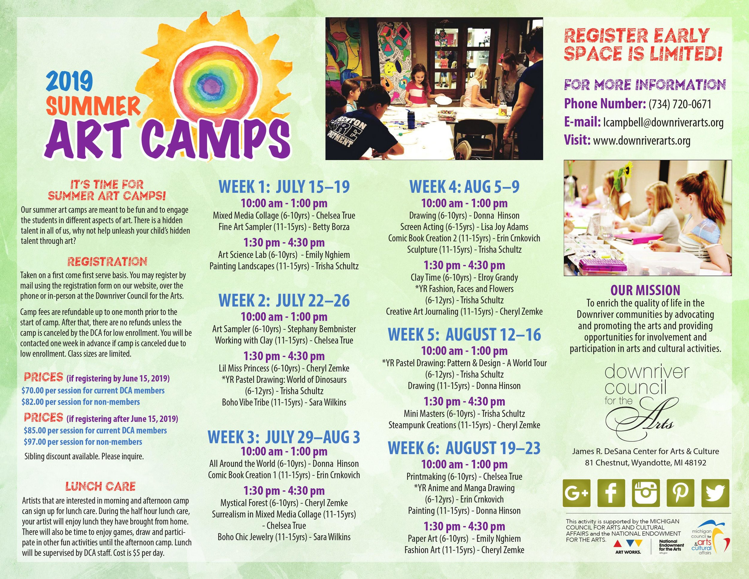 Download the 2019 Summer Art Camp by clicking on the image above.