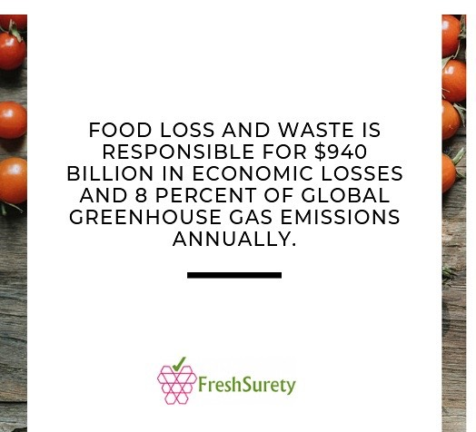 If you're passionate about sustainability and #zerowaste, go give @freshsurety a follow! They are the only food tech company with accurate data sensors that ensure food freshness.