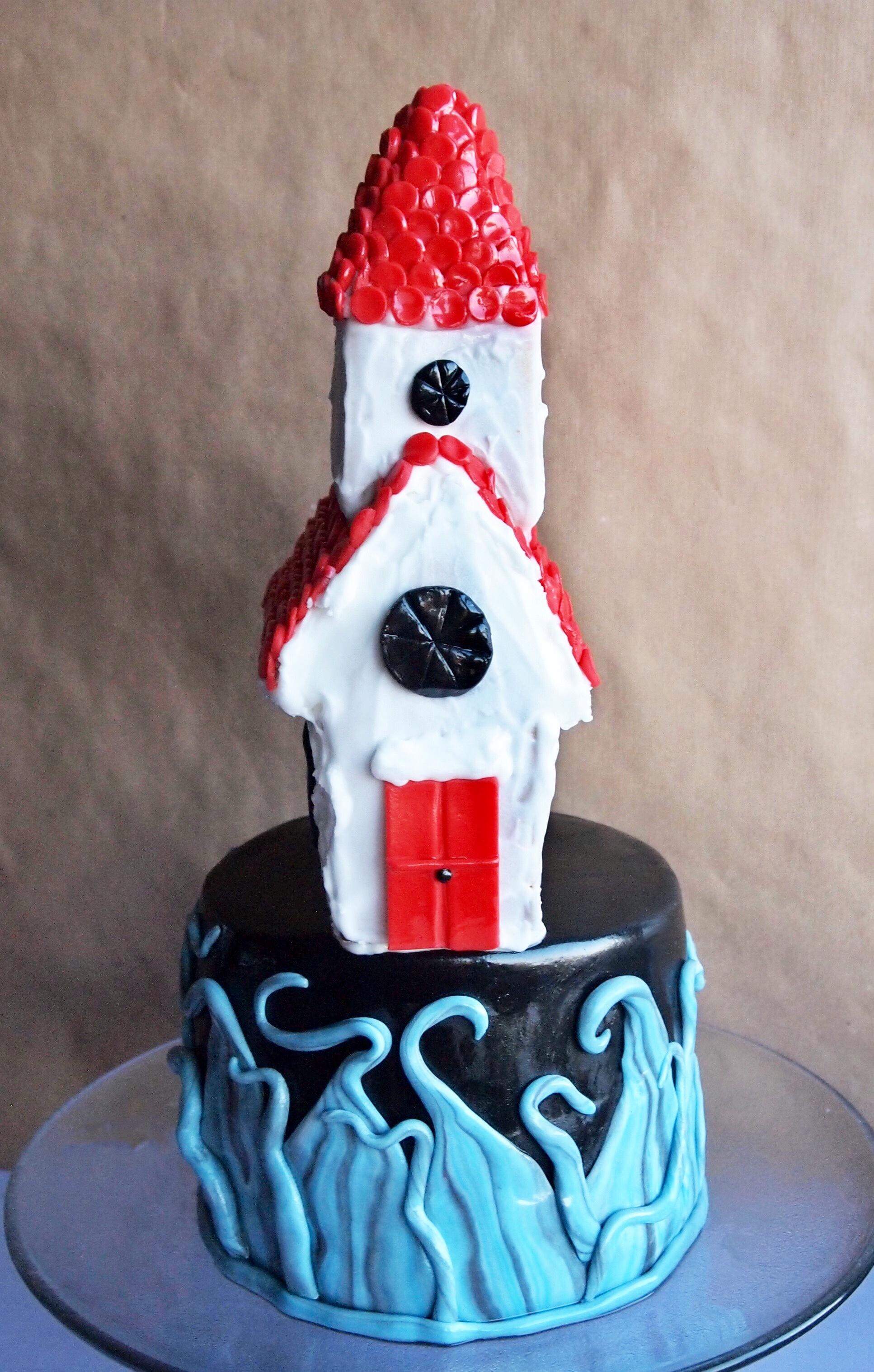 iceland inspired cake