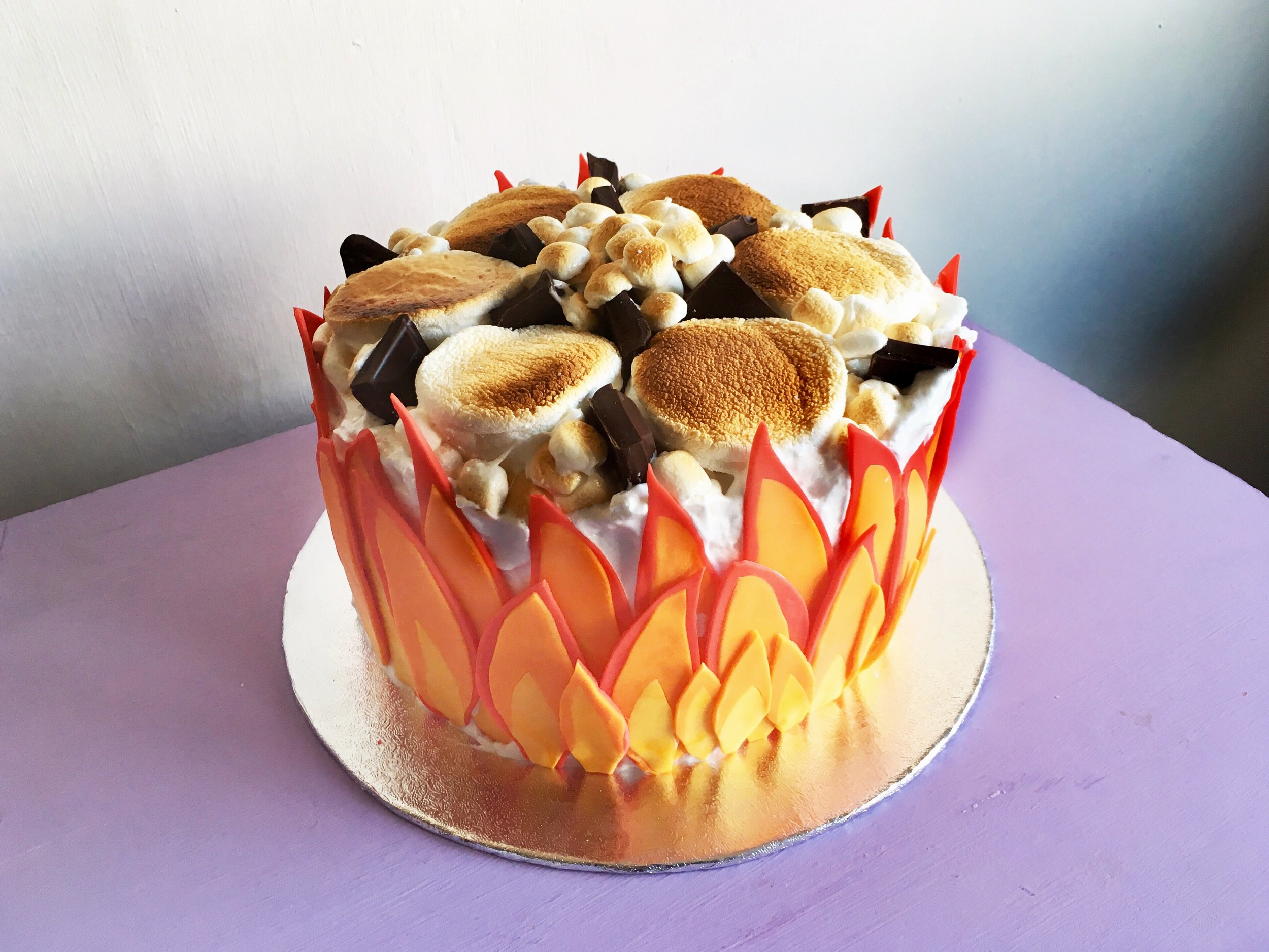 How To Make The Best Fiery S'mores Cake