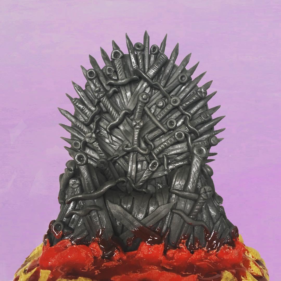 How To Make An Edible Iron Throne Cake Topper