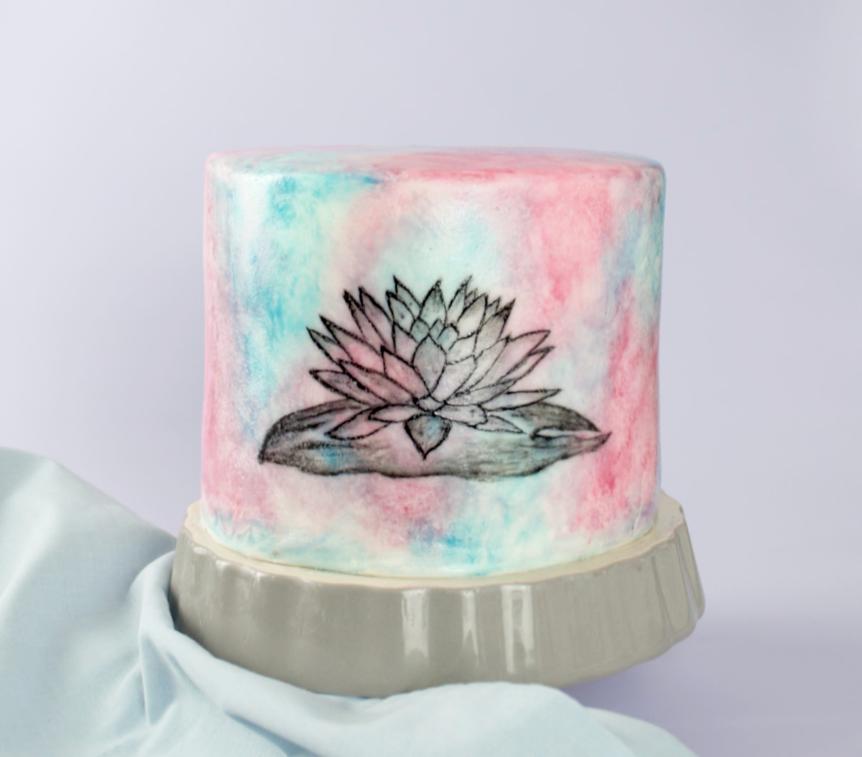 How To Make A Watercolour Cake