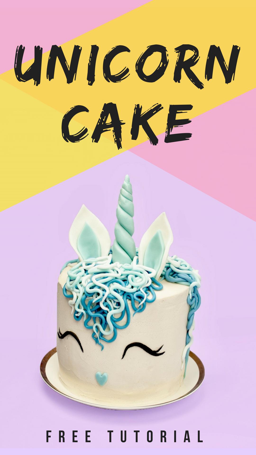 Easy Unicorn Birthday Cake Tutorial