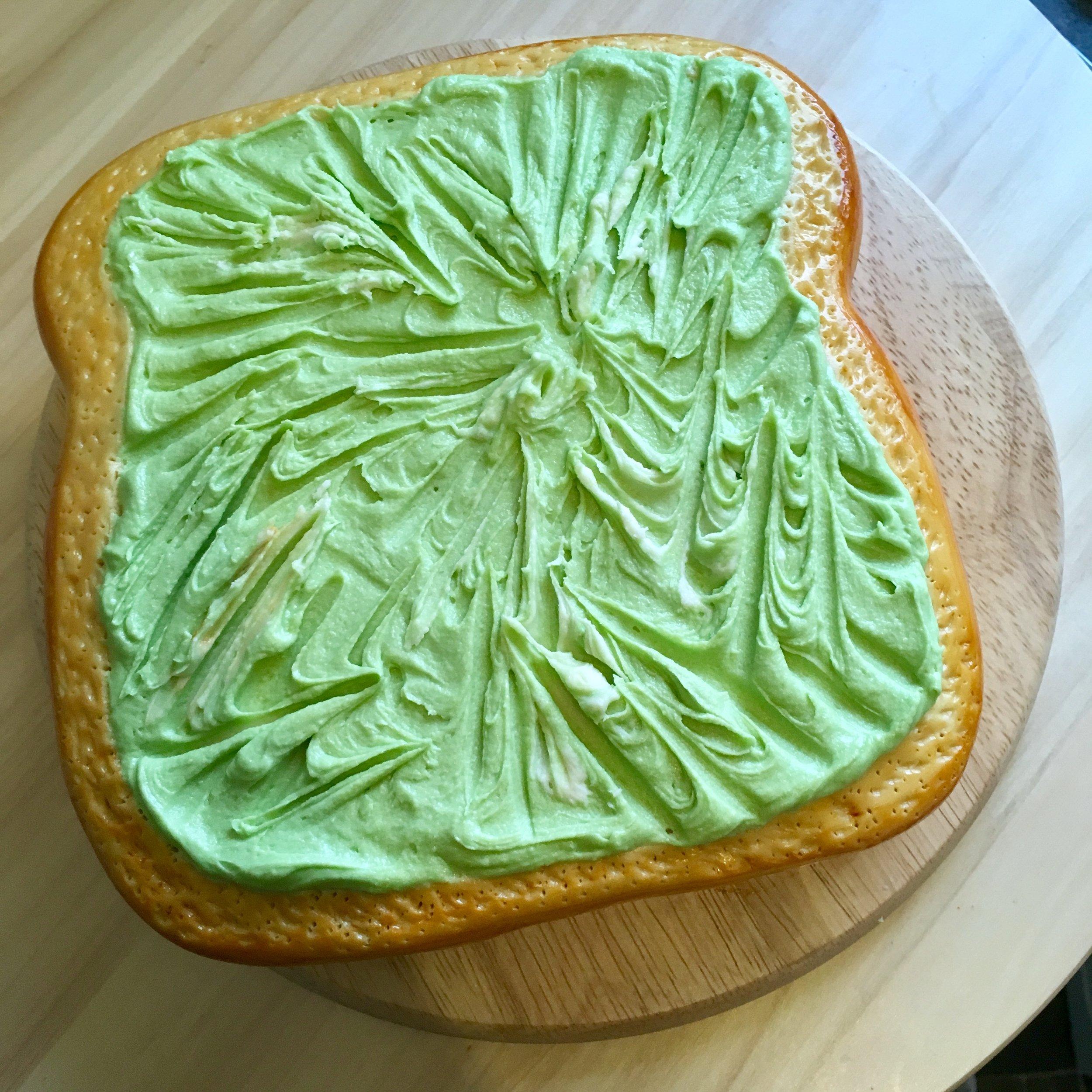 Hipster AF Avocado Toast Cake