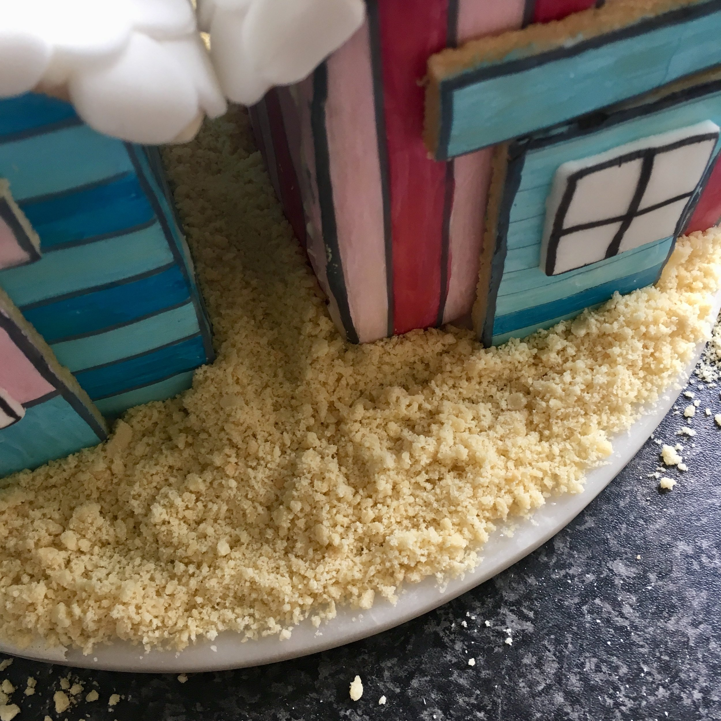 edible sand made from crushed up cookies