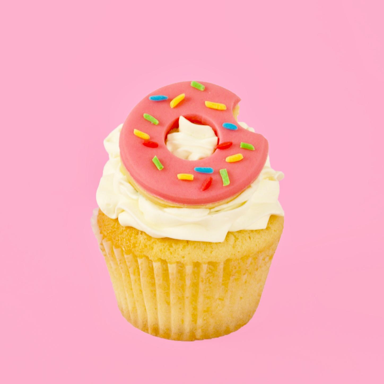 DIY Sprinkle Donut Cupcake Topper