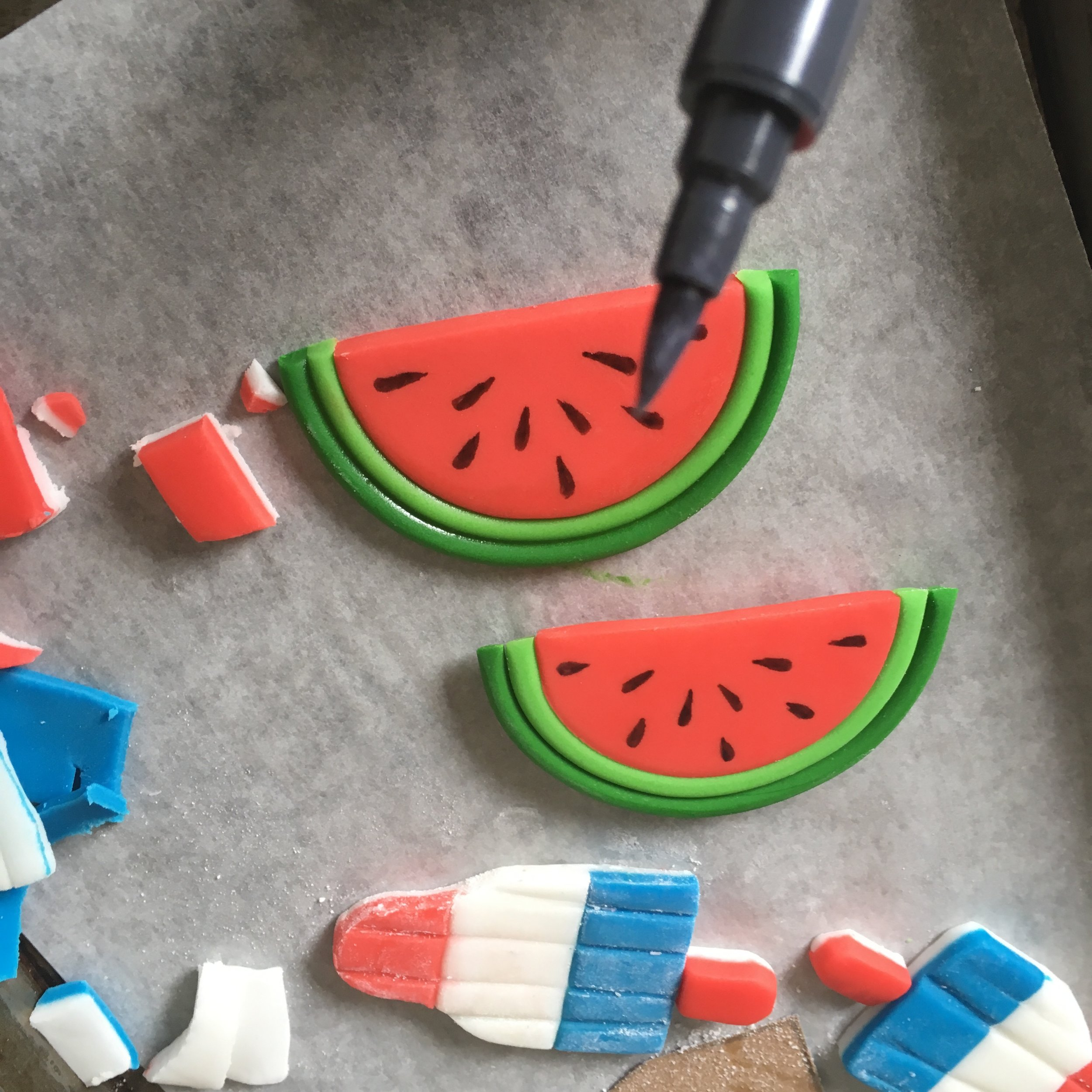 DIY Watermelon Toppers