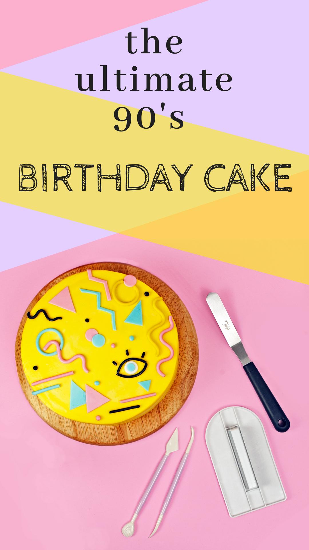 the ultimate 90's birthday cake DIY, very beginner friendly.png