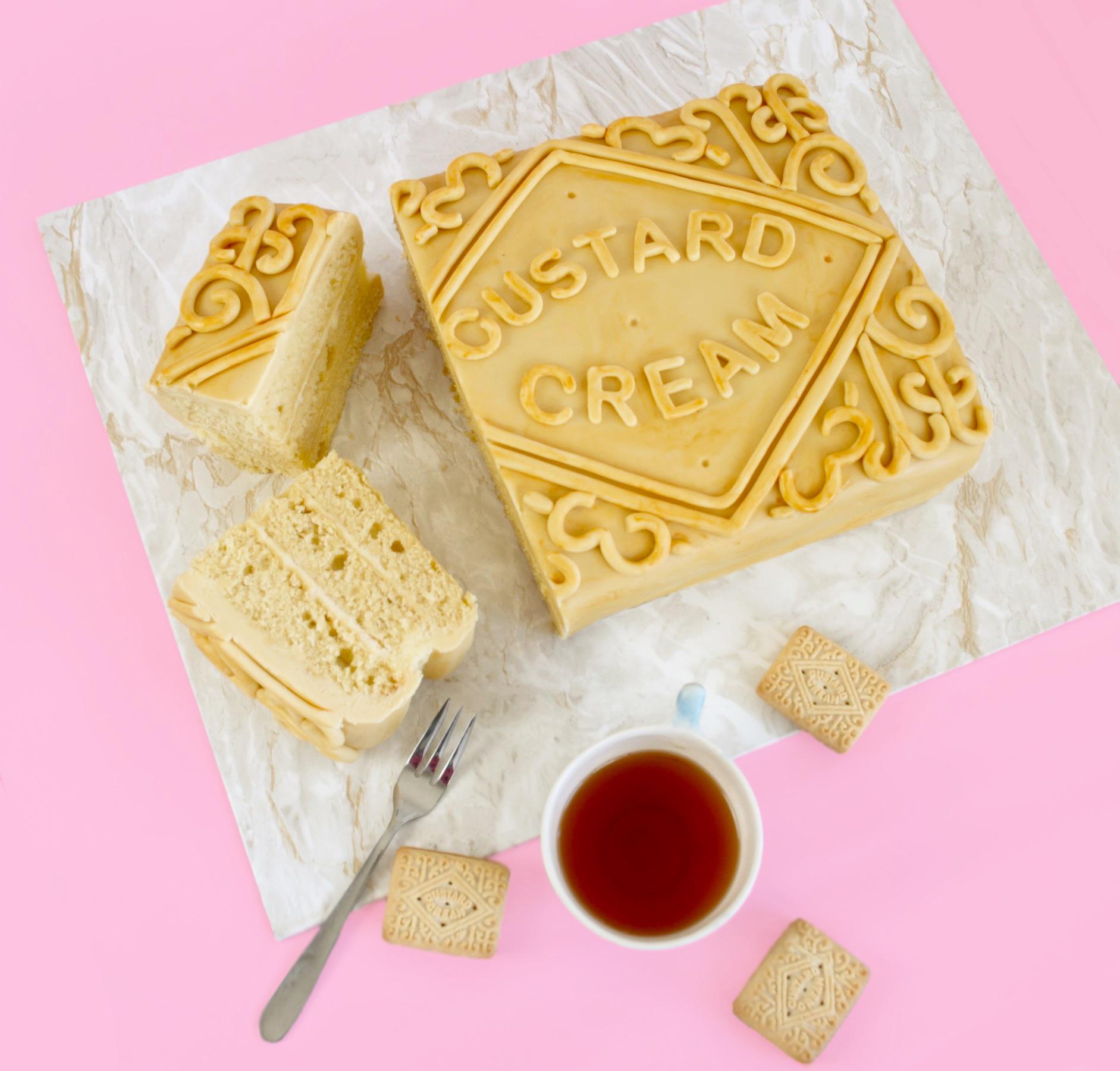 how to make a custard cream cake