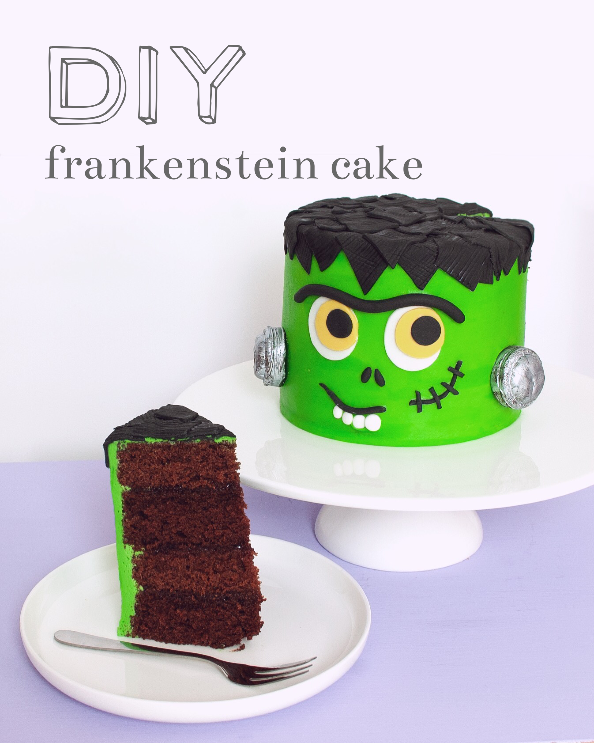 Cute AF Frankenstein Cake Tutorial (beginner friendly)