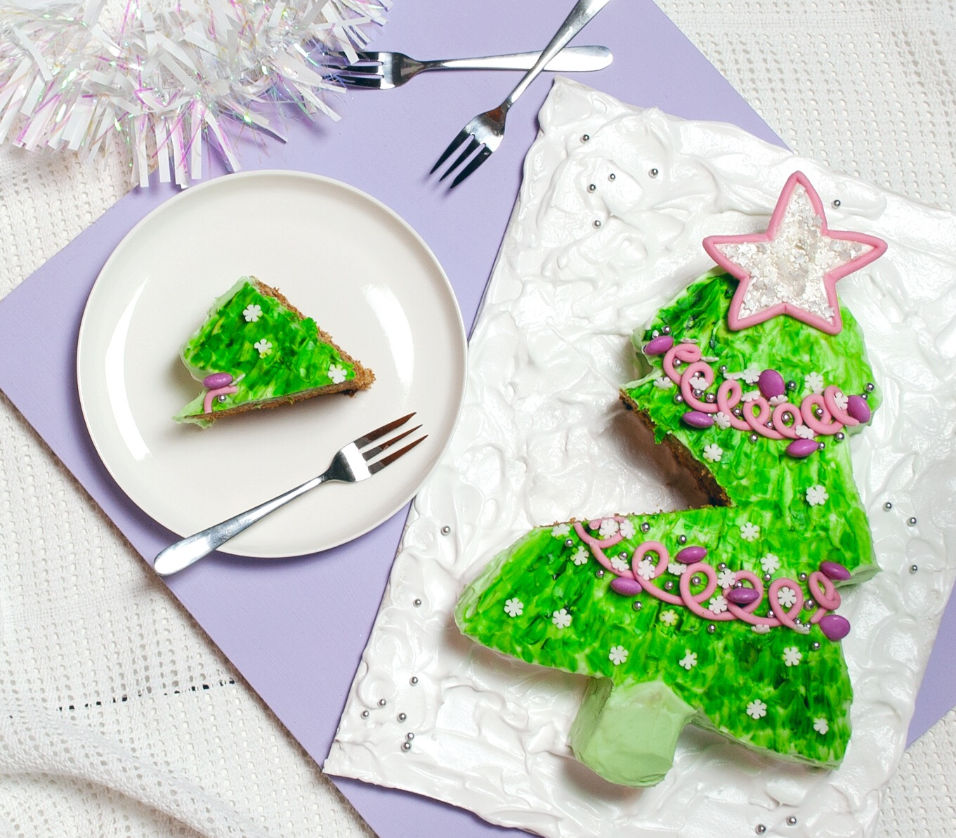 Hella Easy Christmas Tree Cake