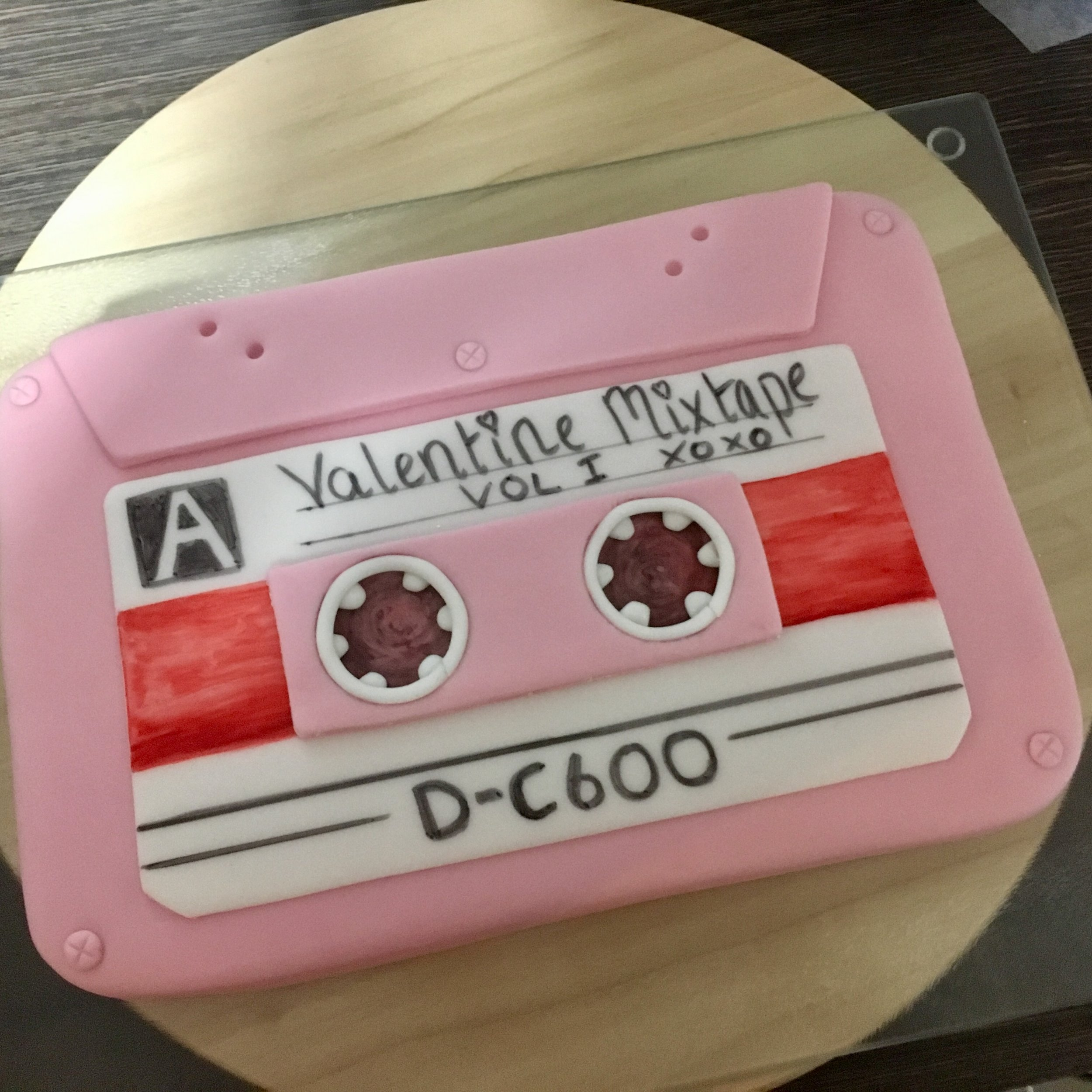 Retro AF Cassette Tape Cake (a MixCake if you will)