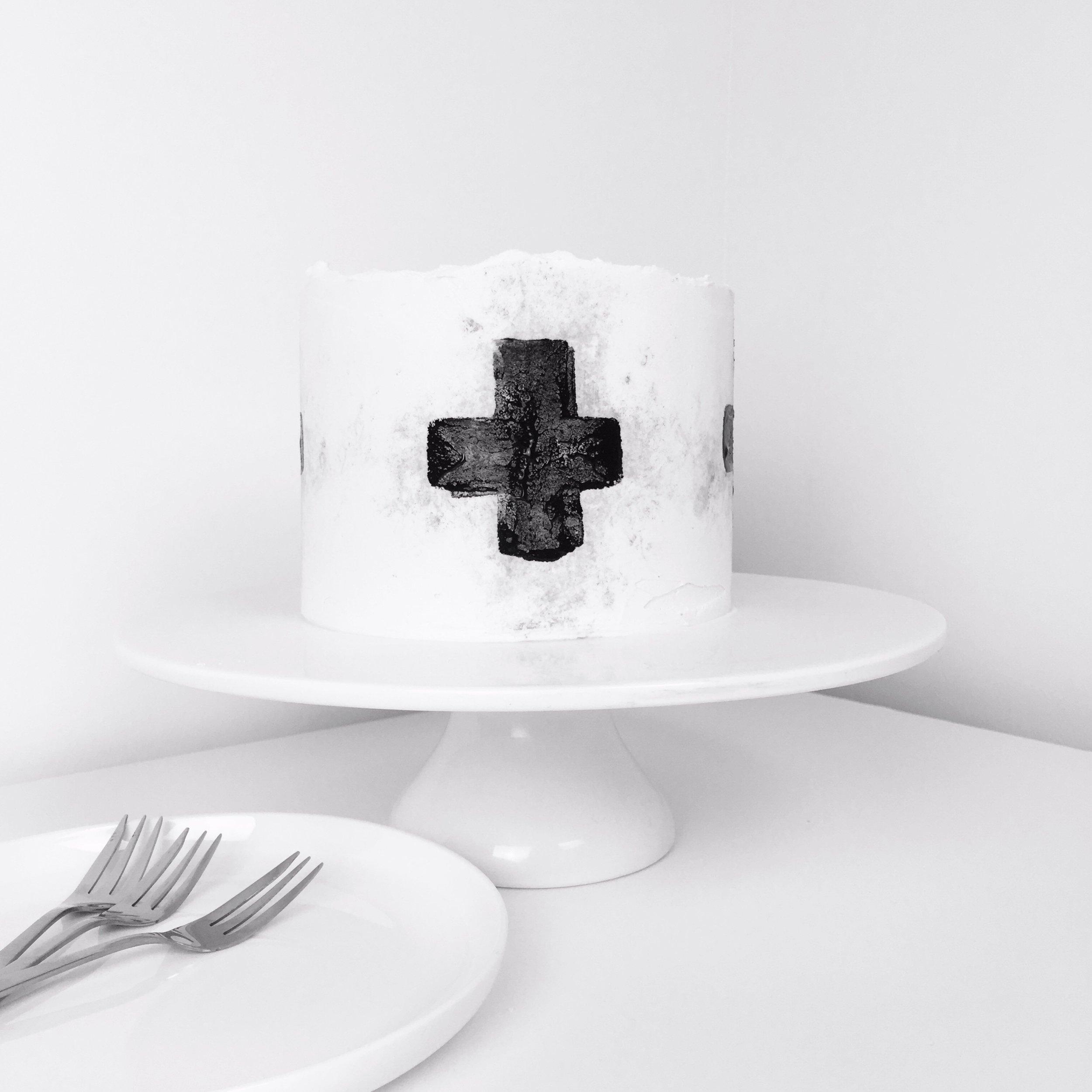 Scandi Style, Potato Printed Cake