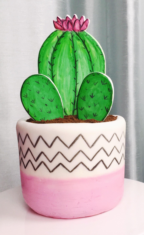 Super Freaking Easy Cactus Cake Tutorial