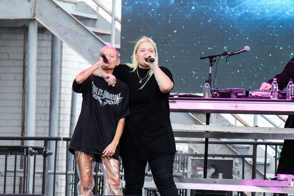 Alma performs at the All Things Go Fall Classic, 2018