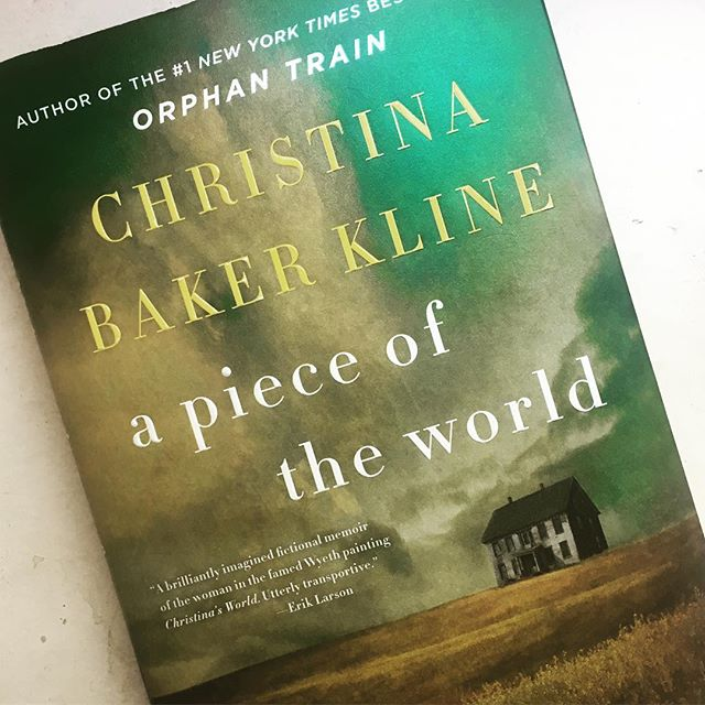 "Looking for a beach read this weekend? Pick up #apieceoftheworld by Christina Baker Kline that was inspired by Andrew Wyeth's painting ""Christina's World"" and captures the life of Christina Olson. #summerreading #andrewwyethchristinasworld #andrewwyeth #bookstagram #bookworm #maine #artbook #artbooks #historicalfiction"
