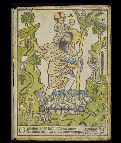 The earliest known European woodcut