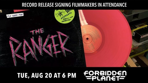 Hey punk, join us at the @forbiddenplanetnyc RANGER record release signing, and while yer at it, swipe right 👉 to get some @Shudder on us 😎☠️