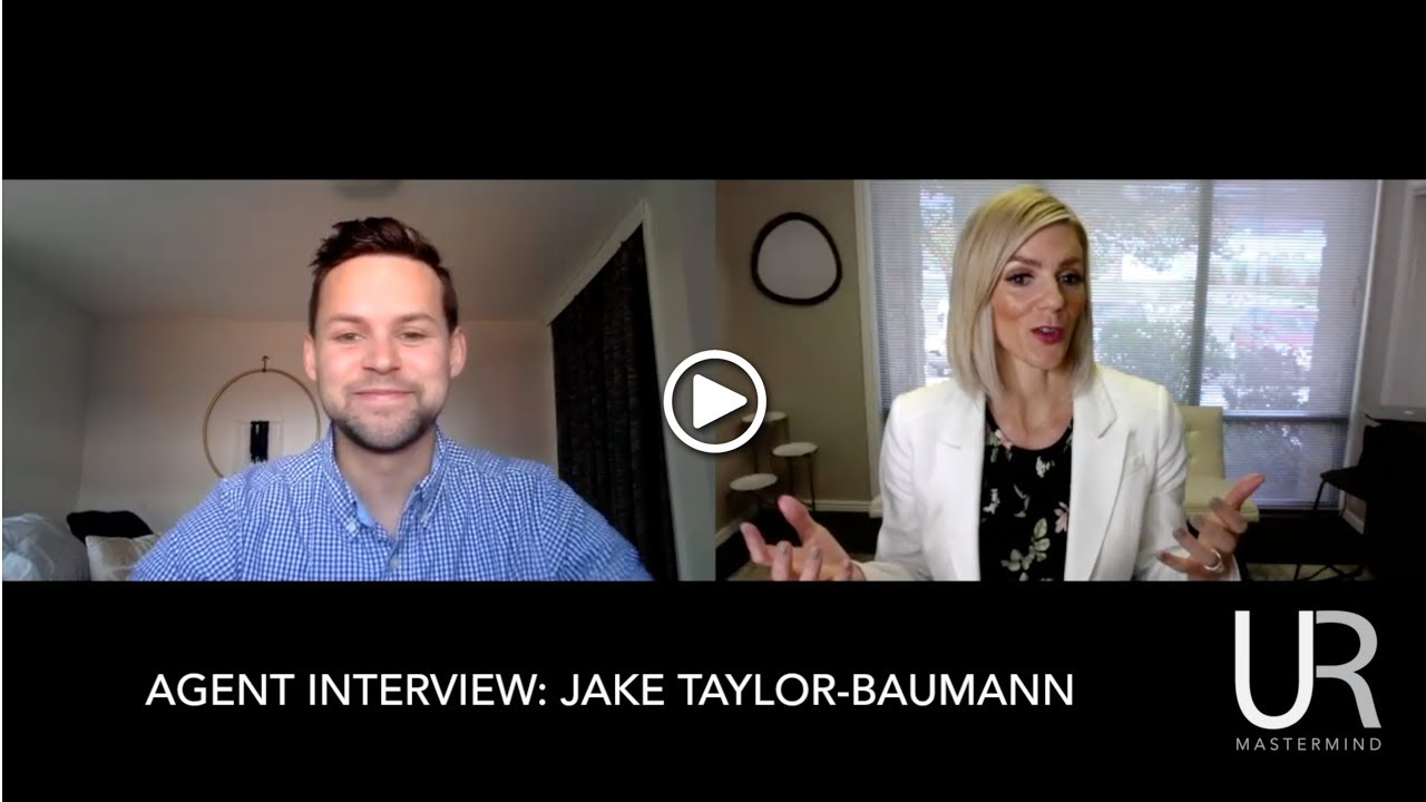 Jake-Taylor Baumann - Watch and learn how Jake is on track to do 50 transactions in his first year of being a real estate agent. Want to learn the exact way he hits his goals? Register for our Business Planning Clinic HERE.