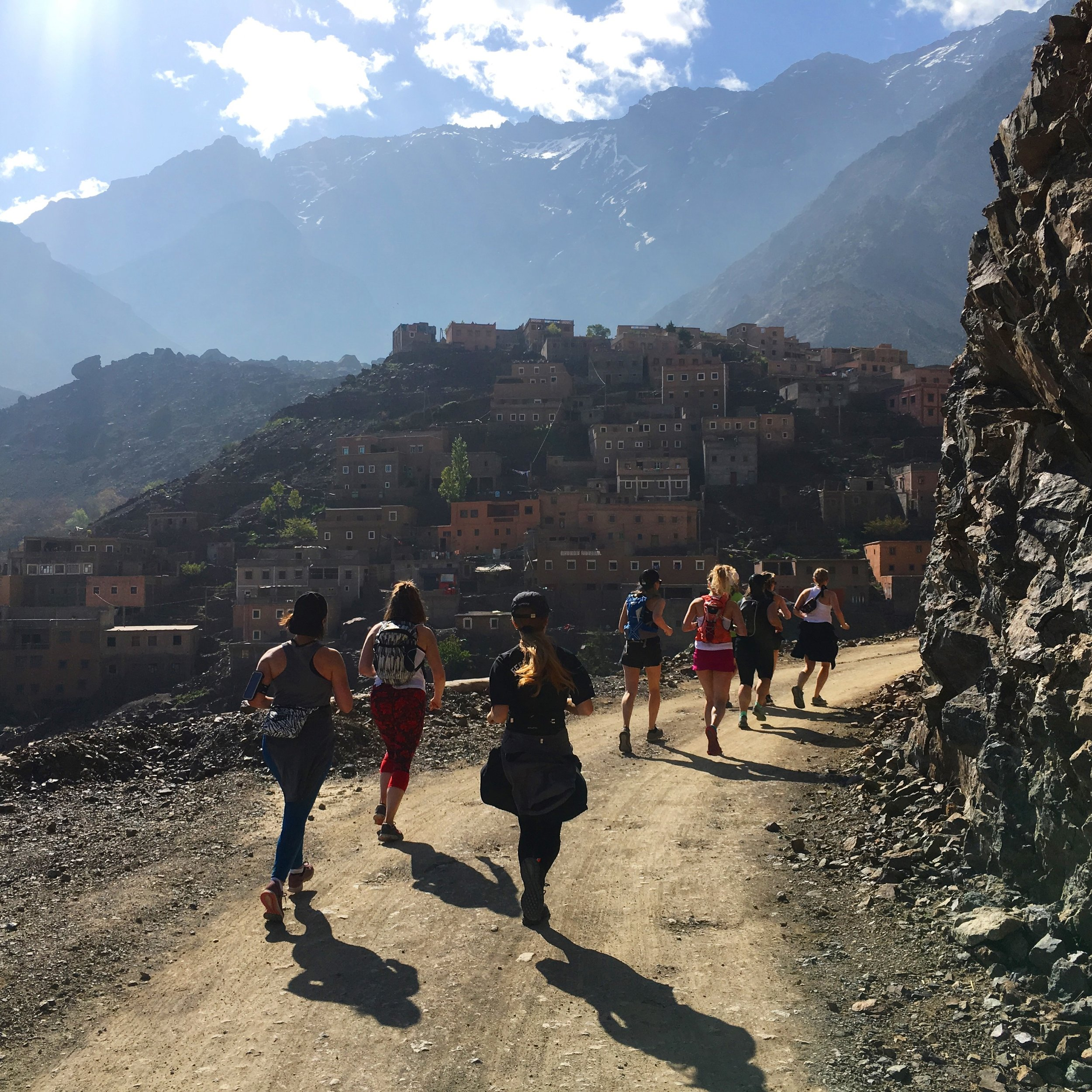 Run - Mountain trails straight from your front door take us through local berber villages with spectacular views of the high atlas mountains. All abilities welcome.