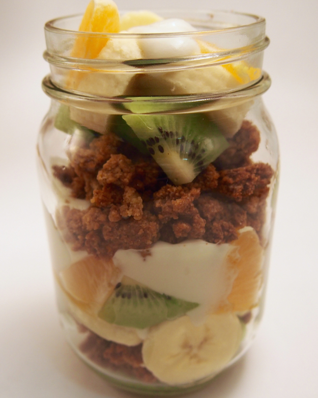 Registered Dietitian Nutritionist approved recipe for whole grain graham crumble. Perfect topping for yogurt.