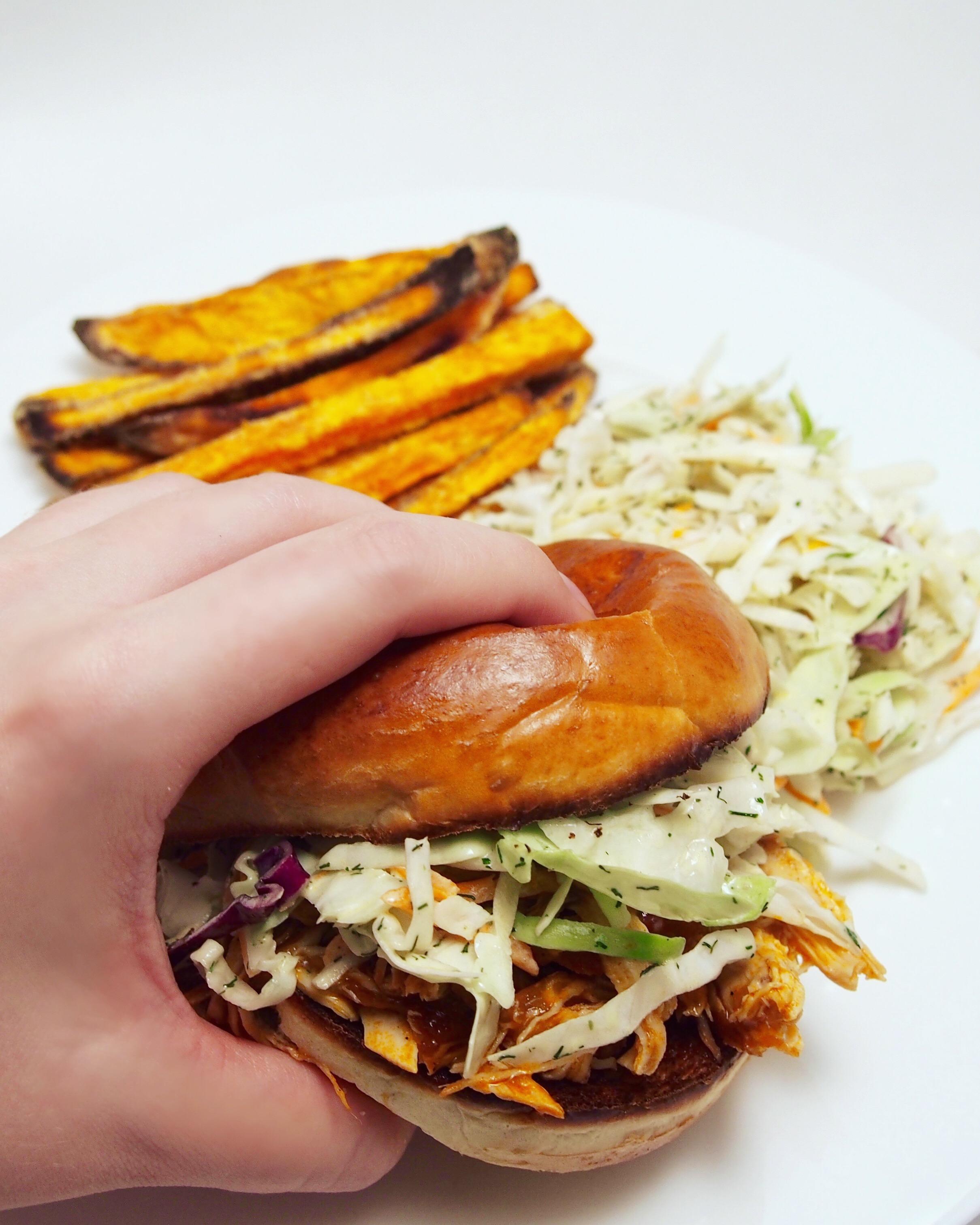 Instant Pot Buffalo Chicken Burgers Recipe. Registered Dietitian Nutritionist Recipes.