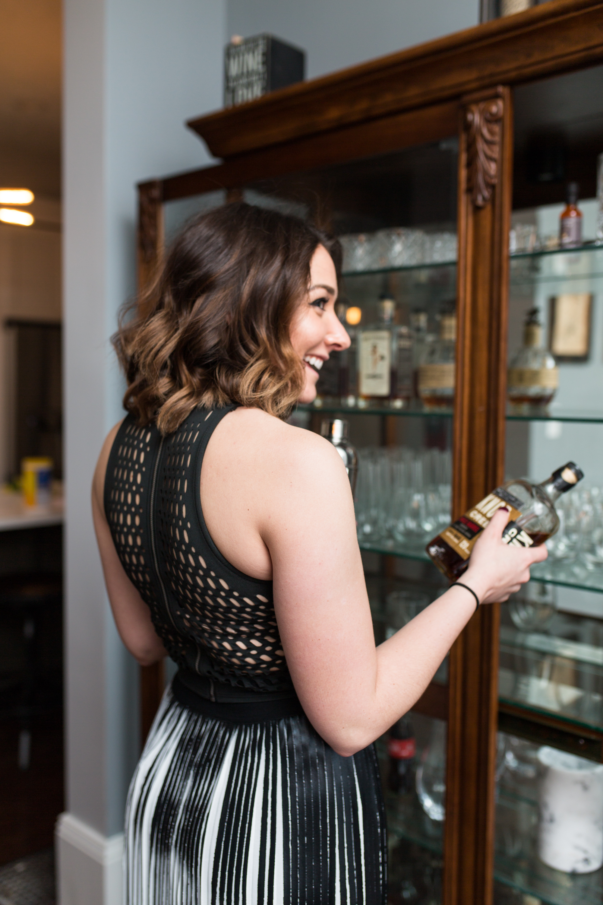 Fun fact: Maria and her boyfriend Cam  (he's the man, everyone needs a Cam) , have a great selection of bourbon at all times. Something I can very much get behind : )