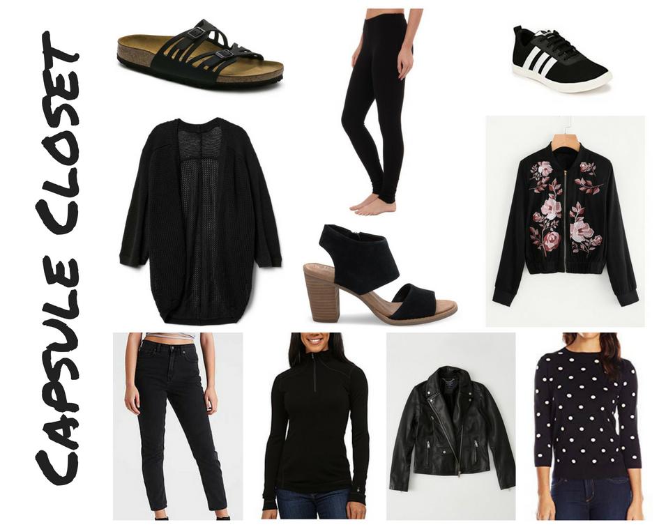 Capsule Closet for San Francisco- Black Clothing