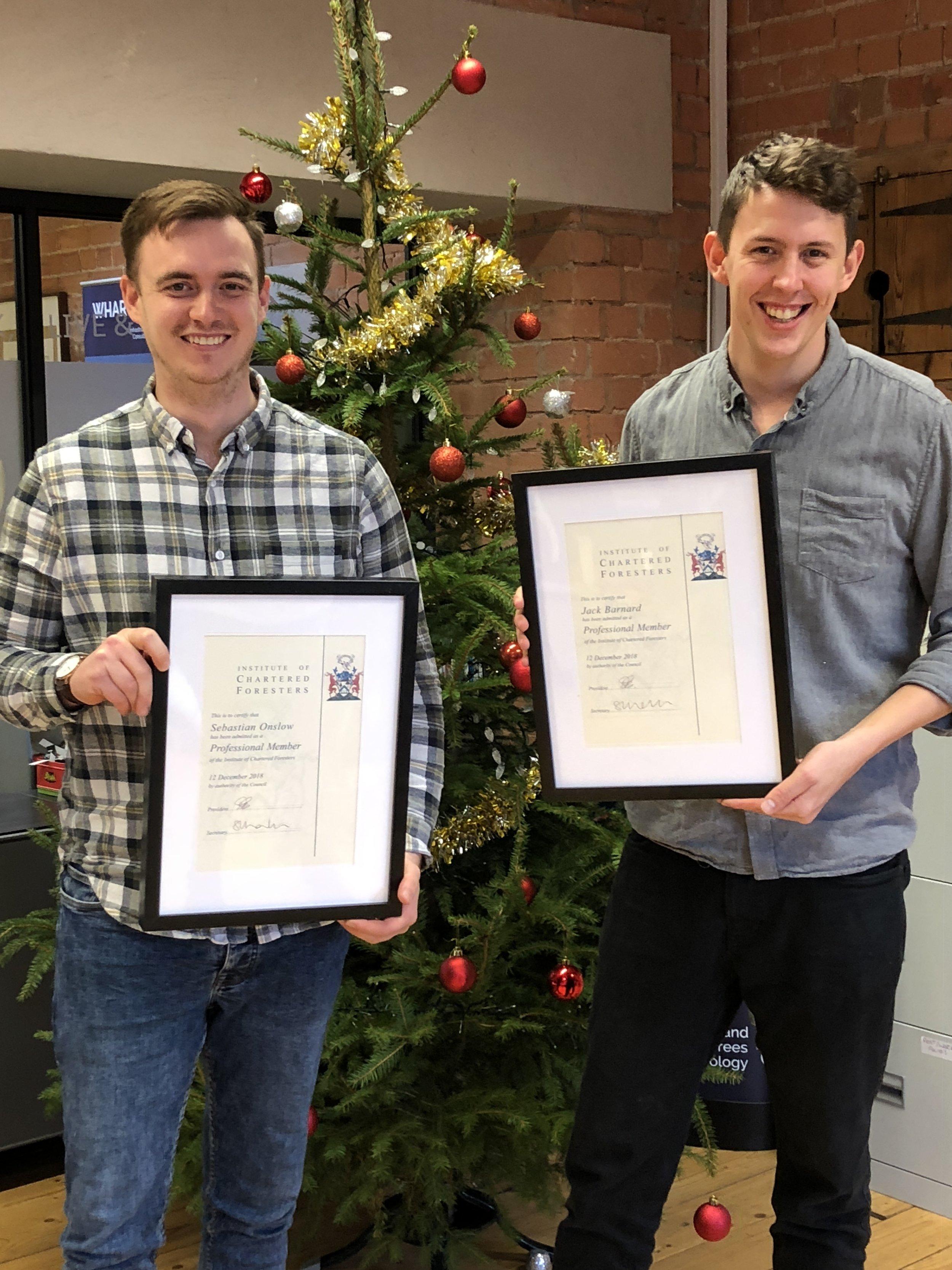 Congratulations Sebastian Onslow & Jack Barnard