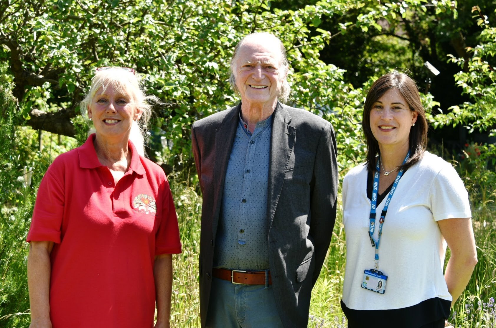 (Left to right): Carole Longden (Forest of Hearts), David Bradley, and Emma Bond (NHS SWFT)