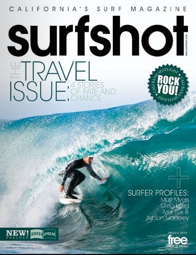 Surfshot Magazine Internship - For eight months I worked with a group of crazy Brazilians who publish a monthly magazine and post a daily surf report of the San Diego breaks. I was responsible for ad design and client relations, photo cataloging, and writing a monthly column (I unearthed charismatic dive bars in an area better known for its swarms of frat boys). At Surfshot, I learned the importance of deadlines, organization and how much fun Brazilians are (damn you, cachaça....)