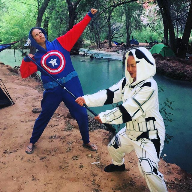 Cuz if you're not having fun, what's the point? #captainamerica #stormtrooper #thisishowwebackpack