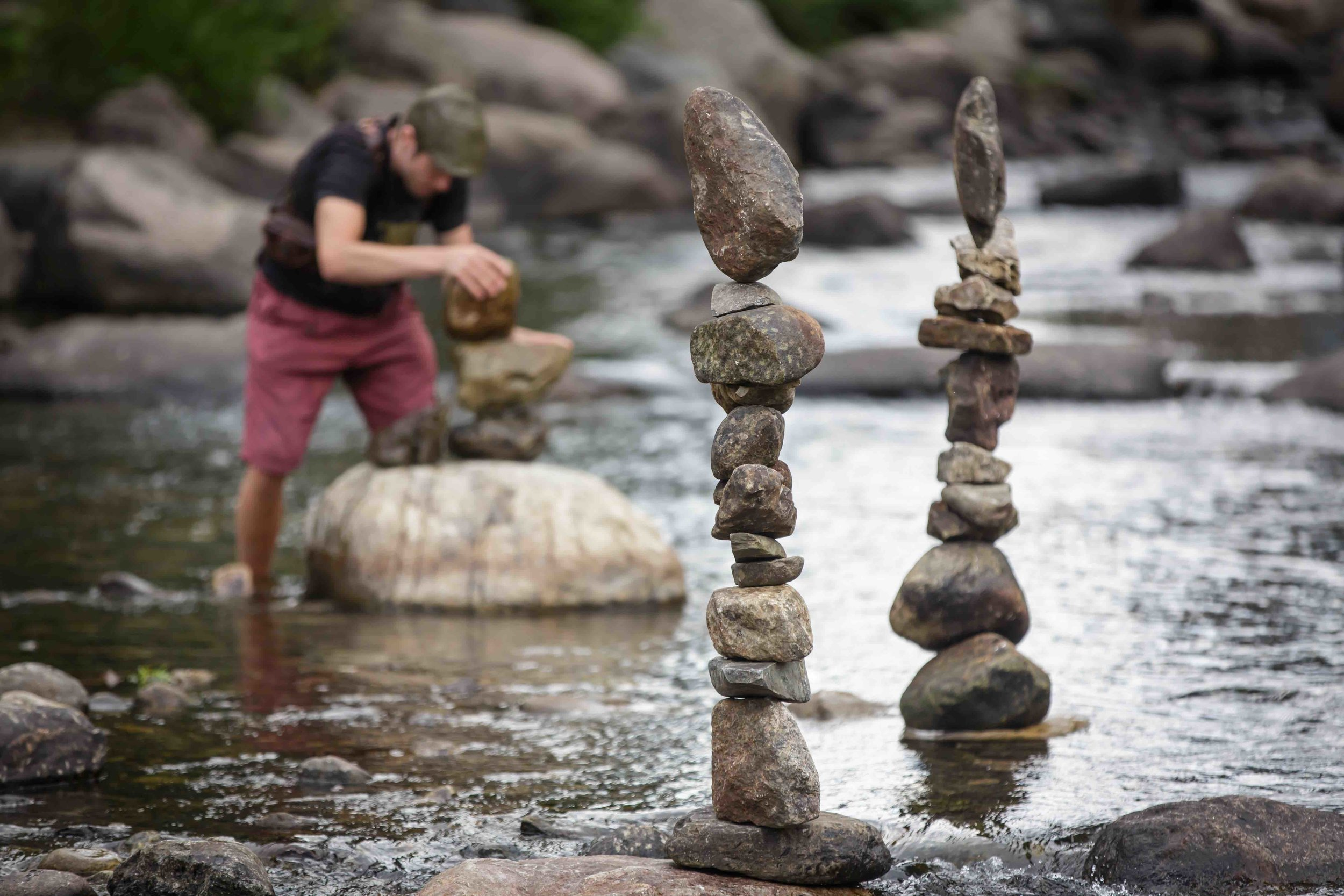 balanced rock sculptures - By Michael Grab | Breckenridge 2018