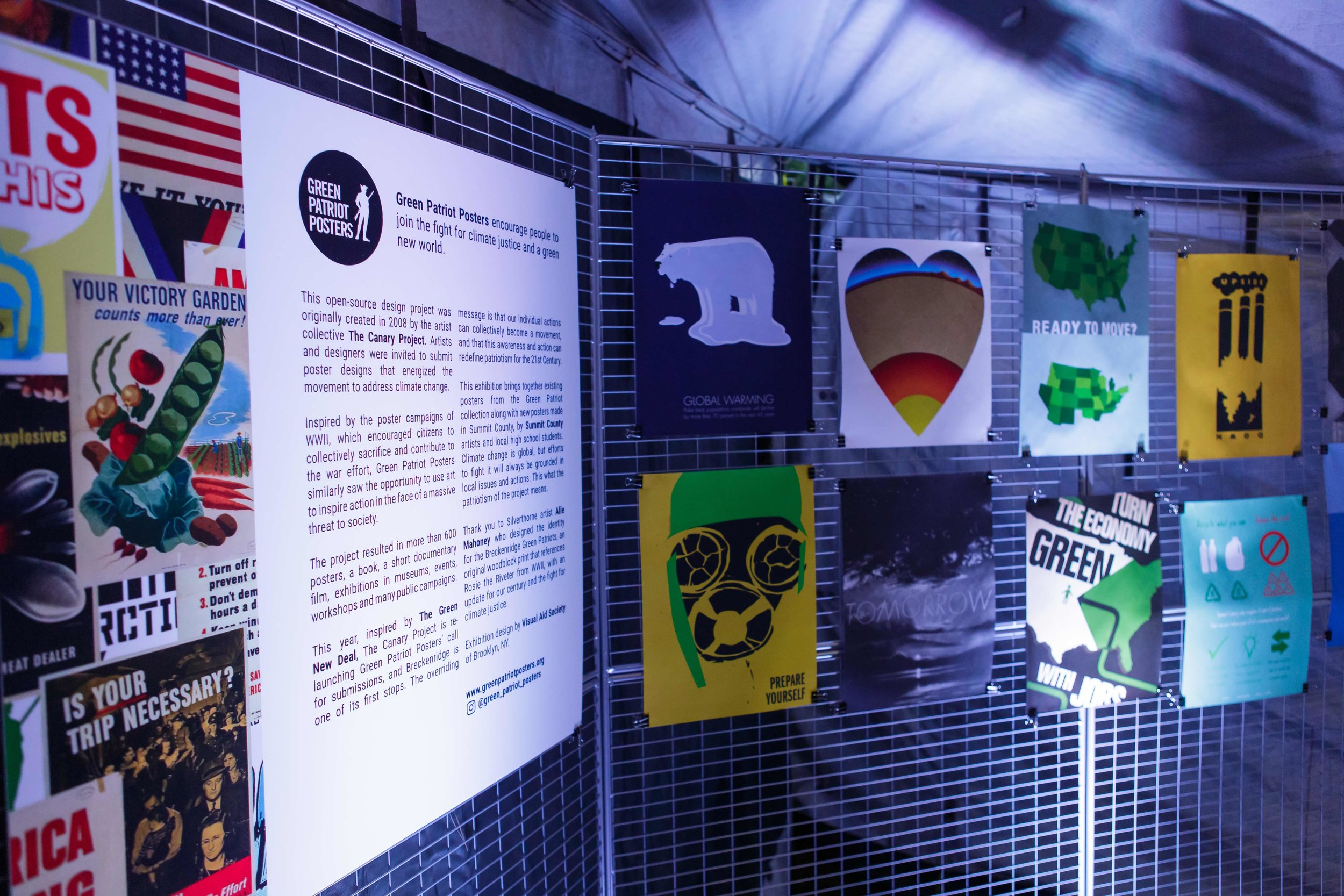 Green Patriot Posters - By The Canary Project | Breckenridge 2019