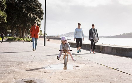 PLAYING  Our playground is known far and wide by kids and parents. You can find our playground on Selwyn Reserve, with fantastic views of the beach, fountain, and restaurants - making it a great place to keep the family and friends entertained while you lap up the surroundings.