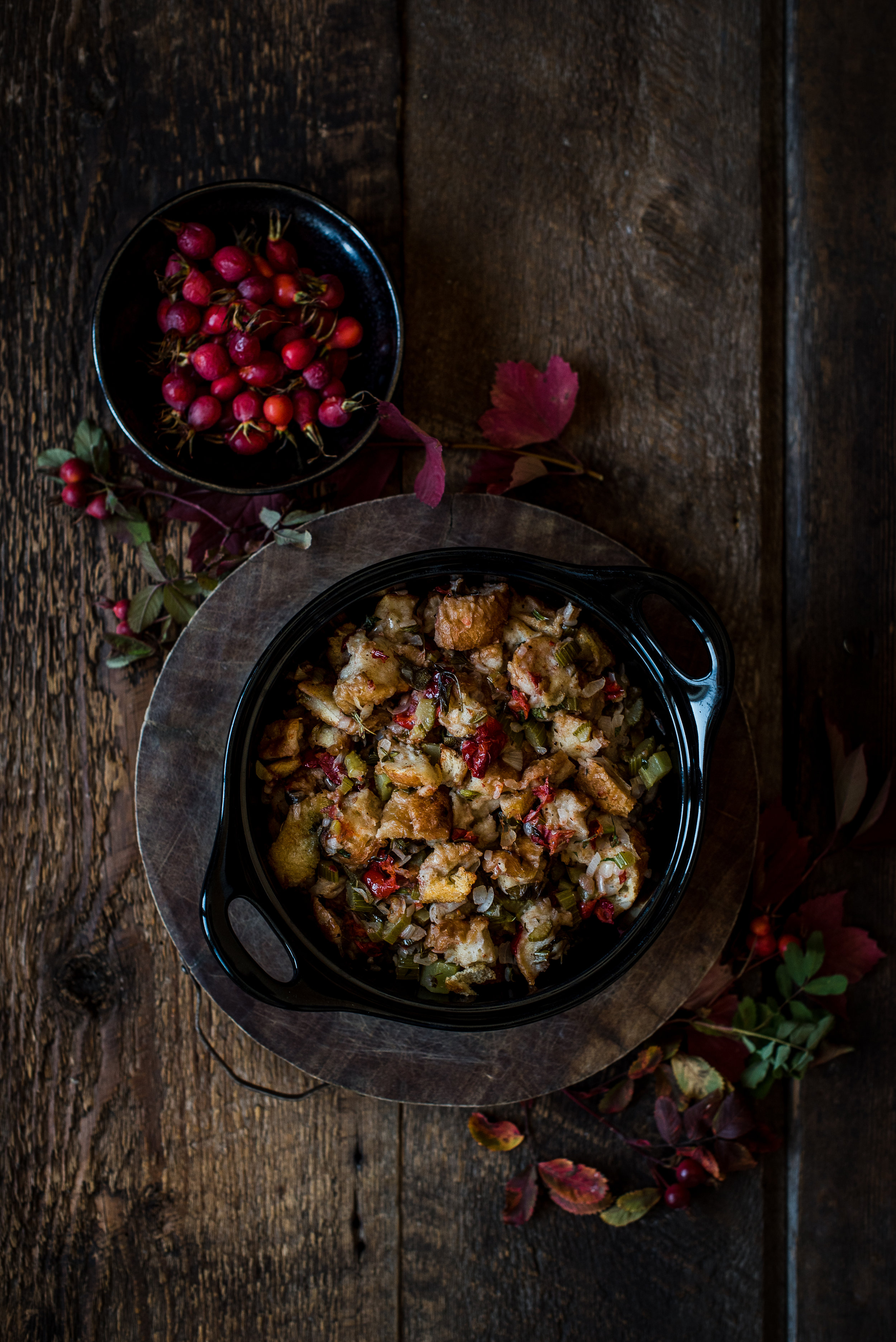 Stuffing with Rose Hips & Juniper