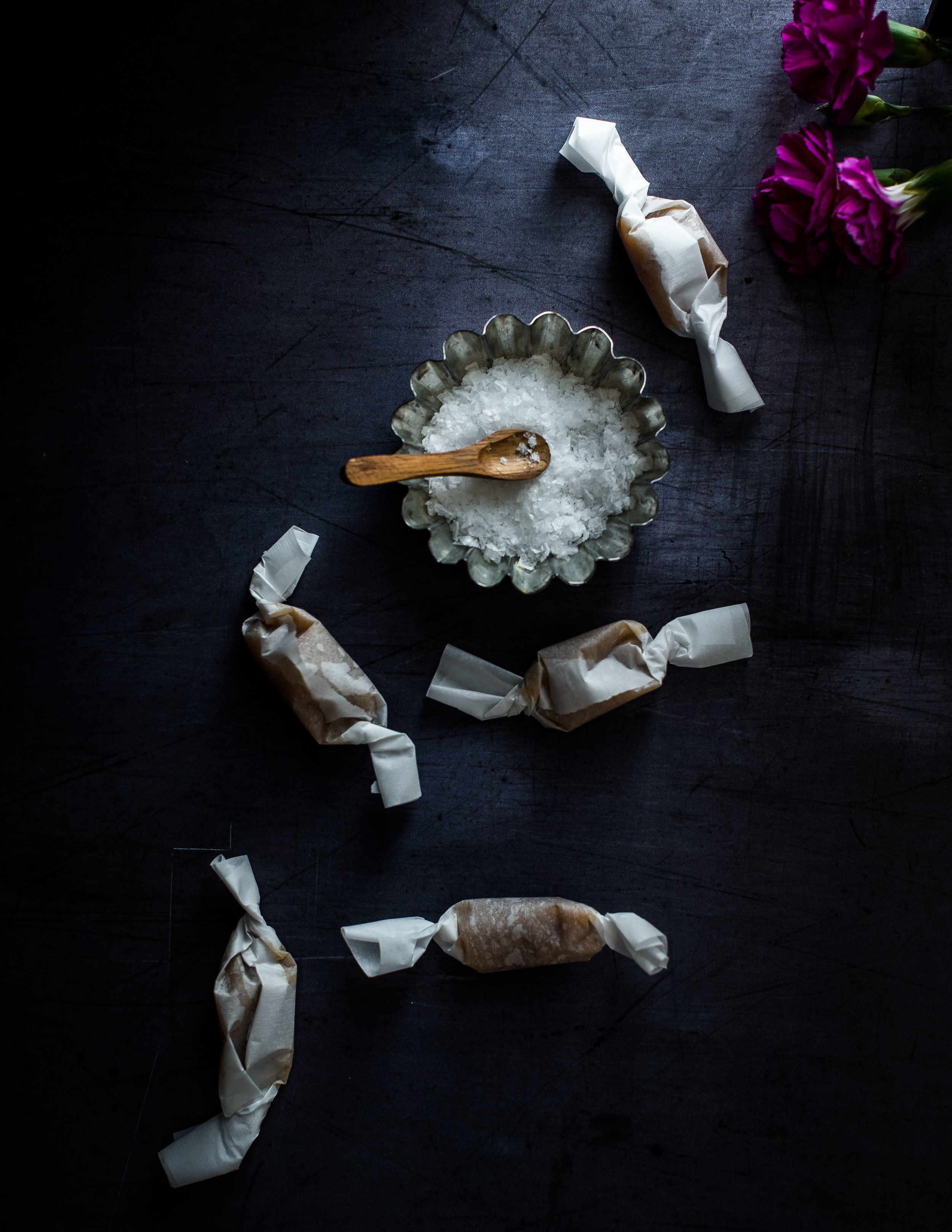 Cloudberry Salted Caramels