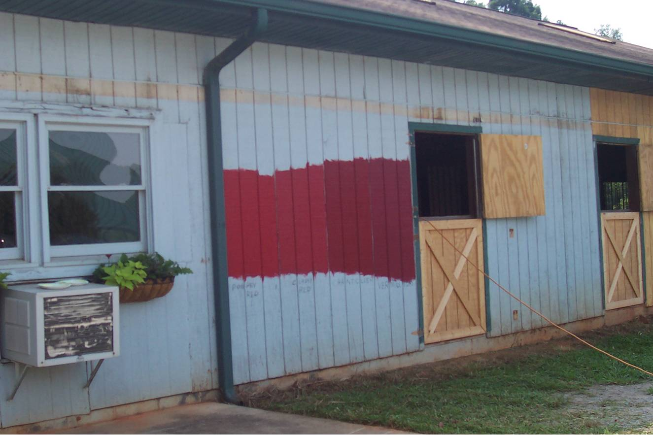 Gray barn turning red!