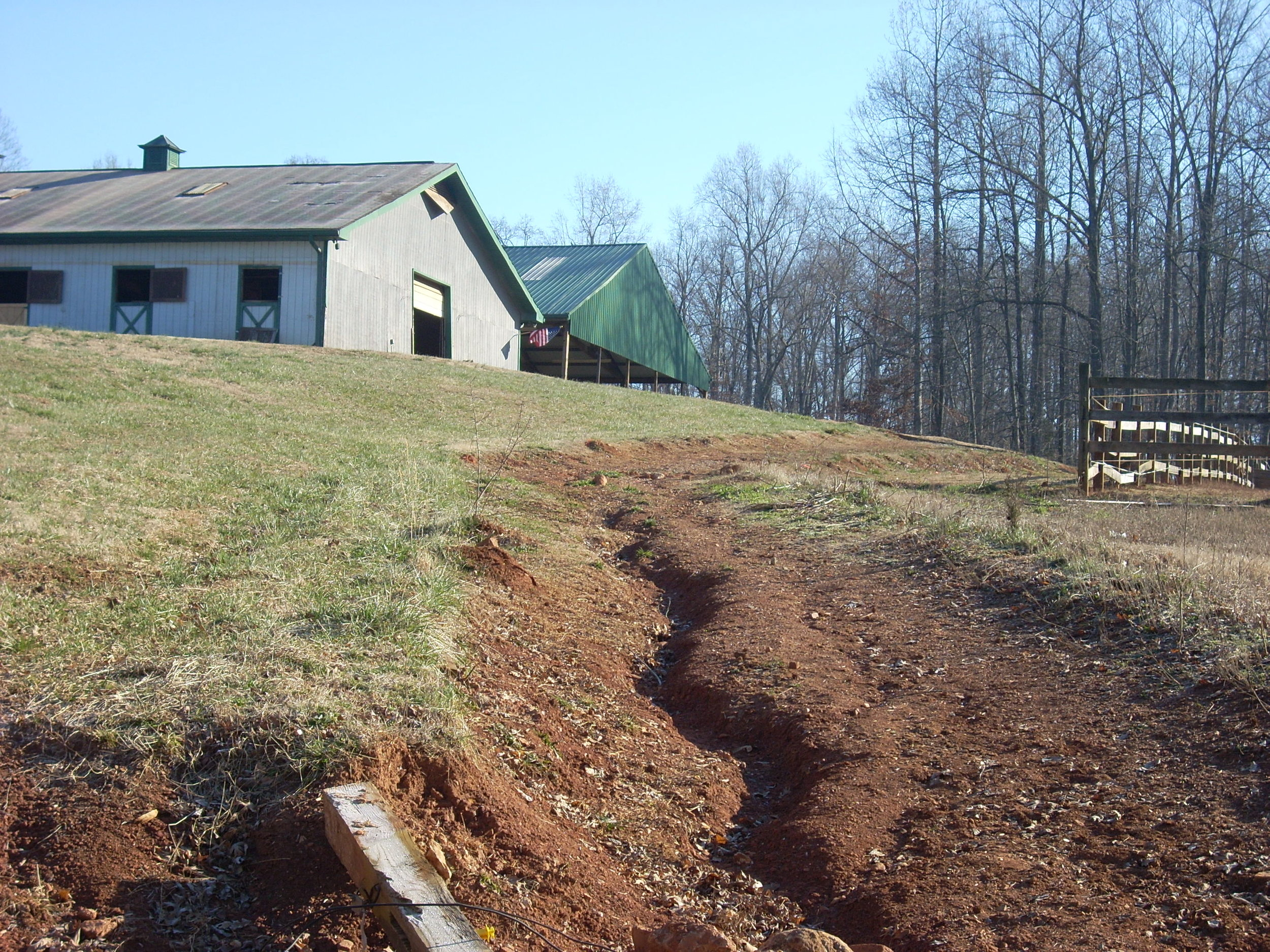 Erosion messes—no pasture access.