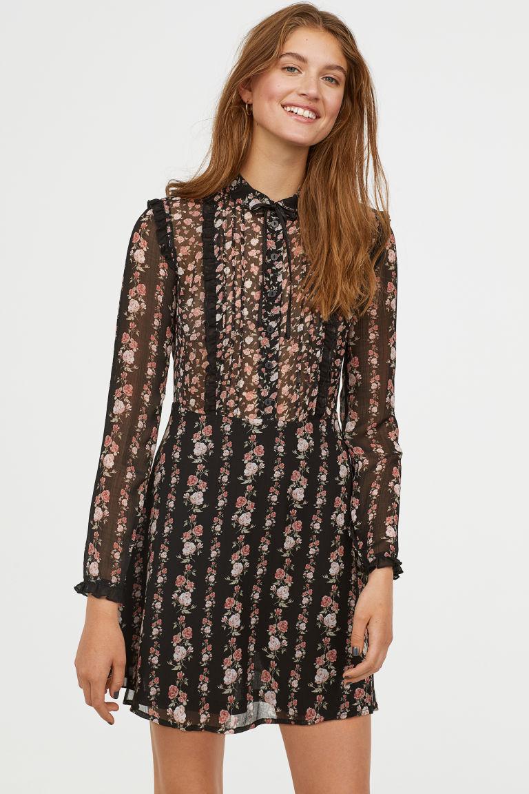 SS19 Trends- Romantic Dressing Chiffon Dress