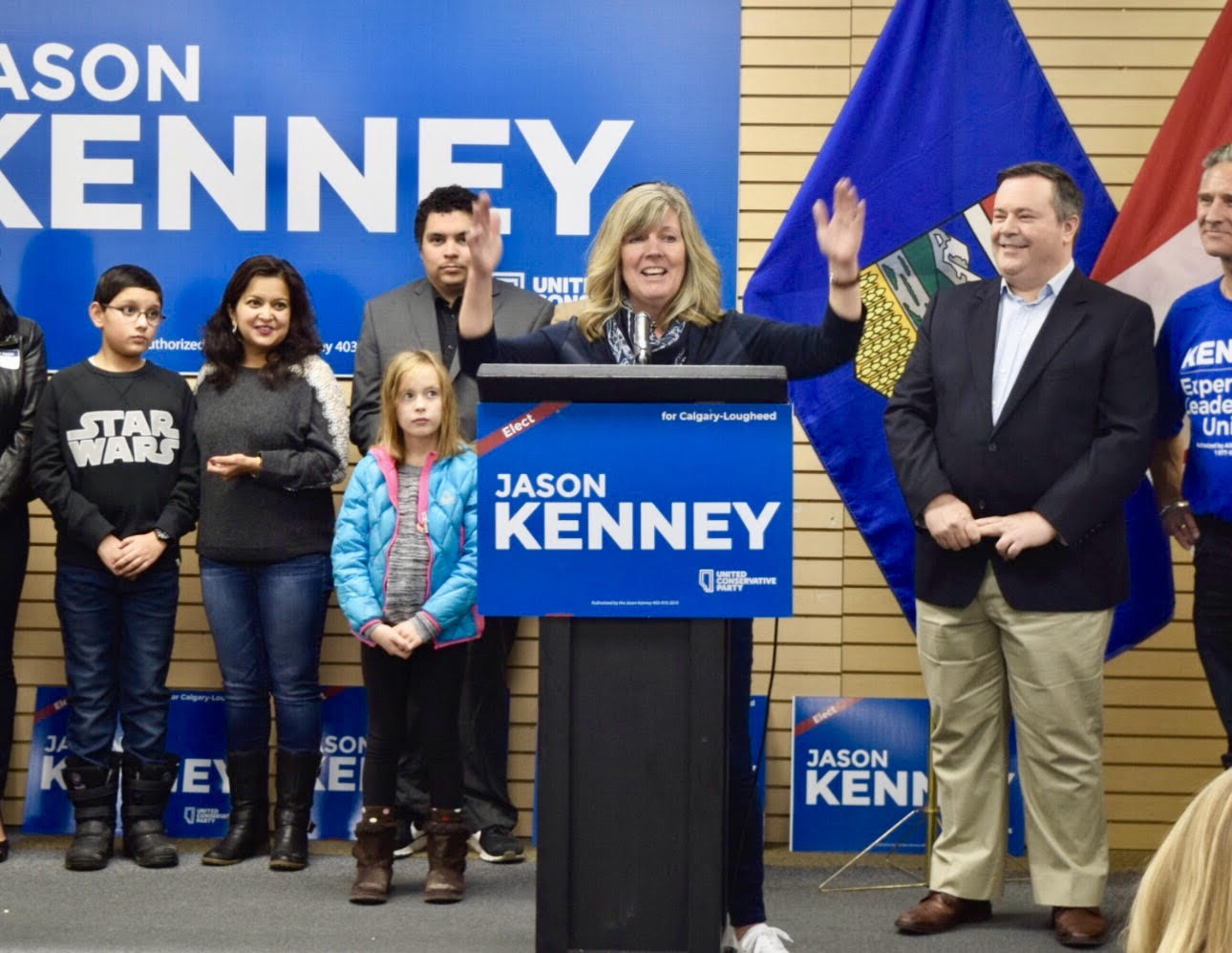 Whitney speaks at UCP Leader Jason Kenney's launch of his successful Calgary Lougheed byelection bid. Whitney will ensure that Calgary Glenmore will be heard at the caucus table.