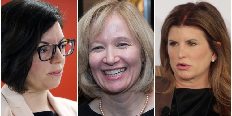 From left, NDP MP Niki Ashton is behind an online campaign school, while Conservative bigwigs Laureen Harper and Rona Ambrose have thrown their hats in with a new non-profit called She Leads to boost Alberta's female conservative ranks. The Hill Times file photograph and photographs by Andrew Meade
