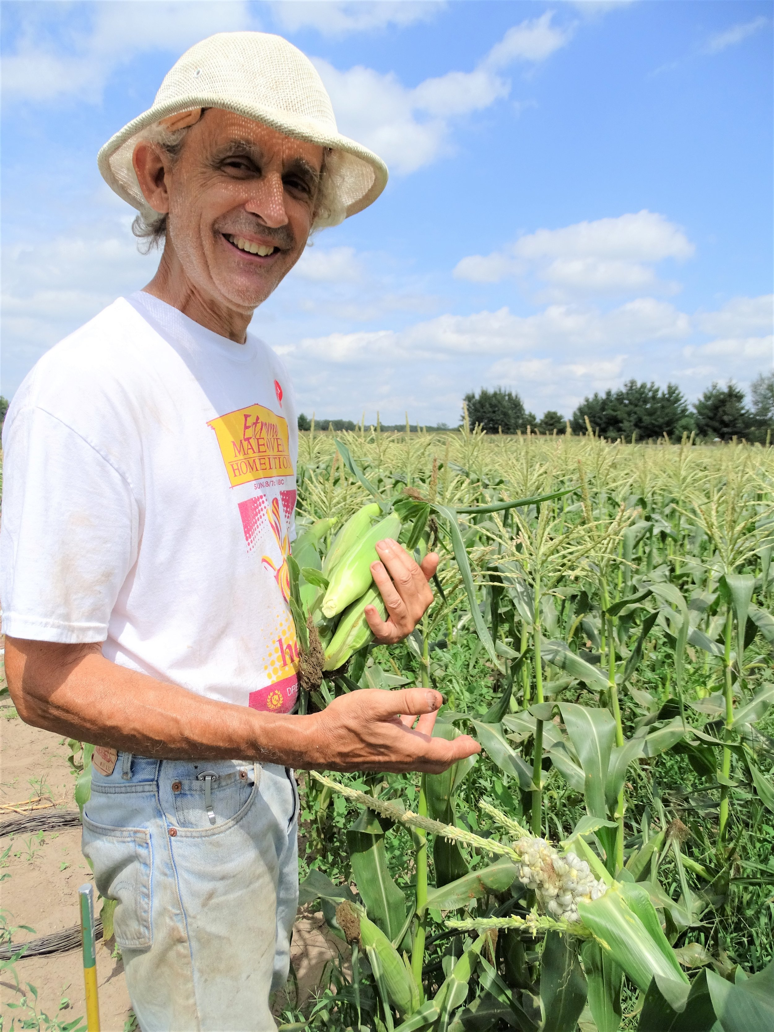 Farmer John in his field of dreams. Photo by  HeidiK Images .