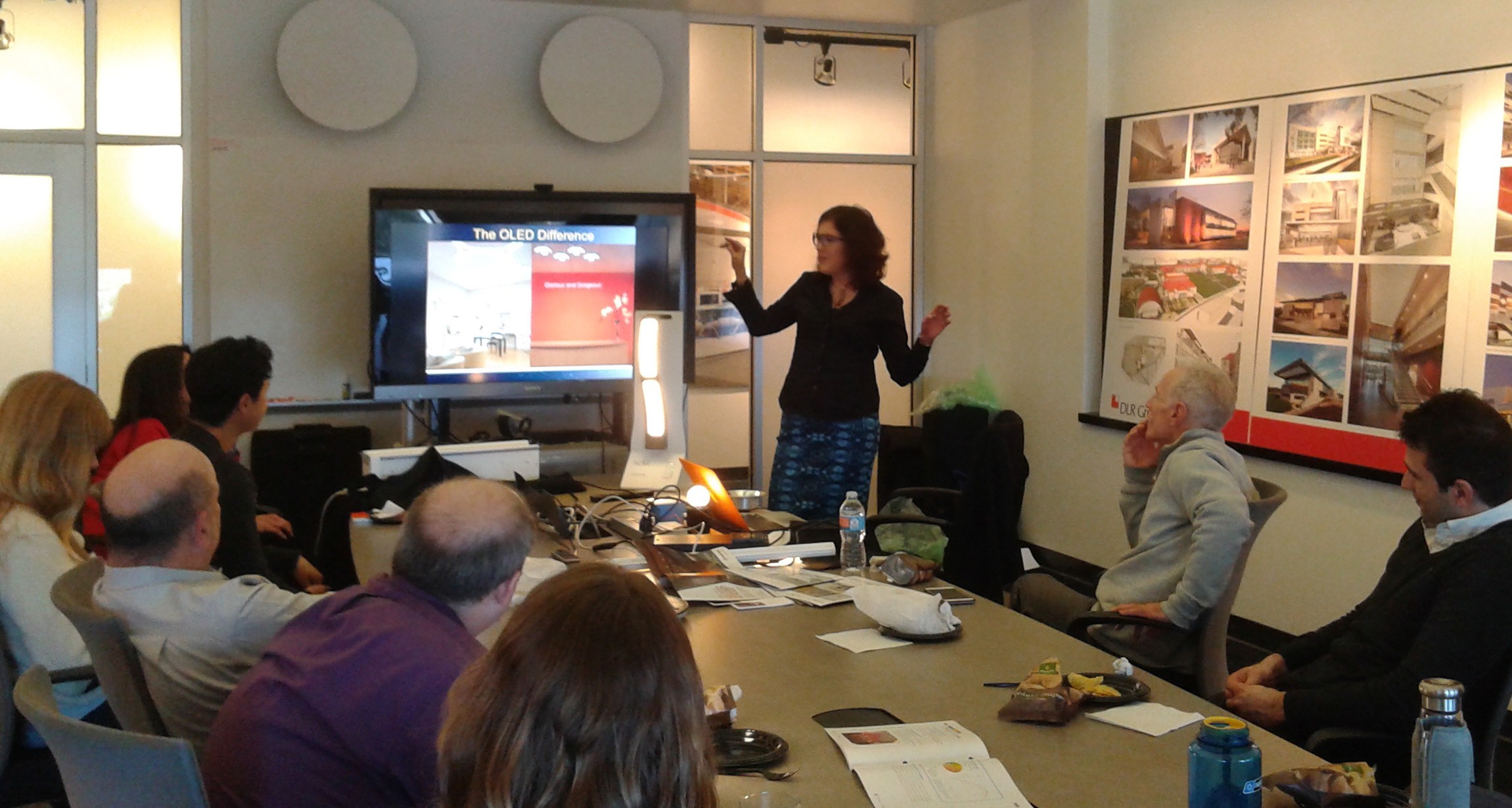 Therese Lahaie presenting at DLR Group, Los Angeles CA