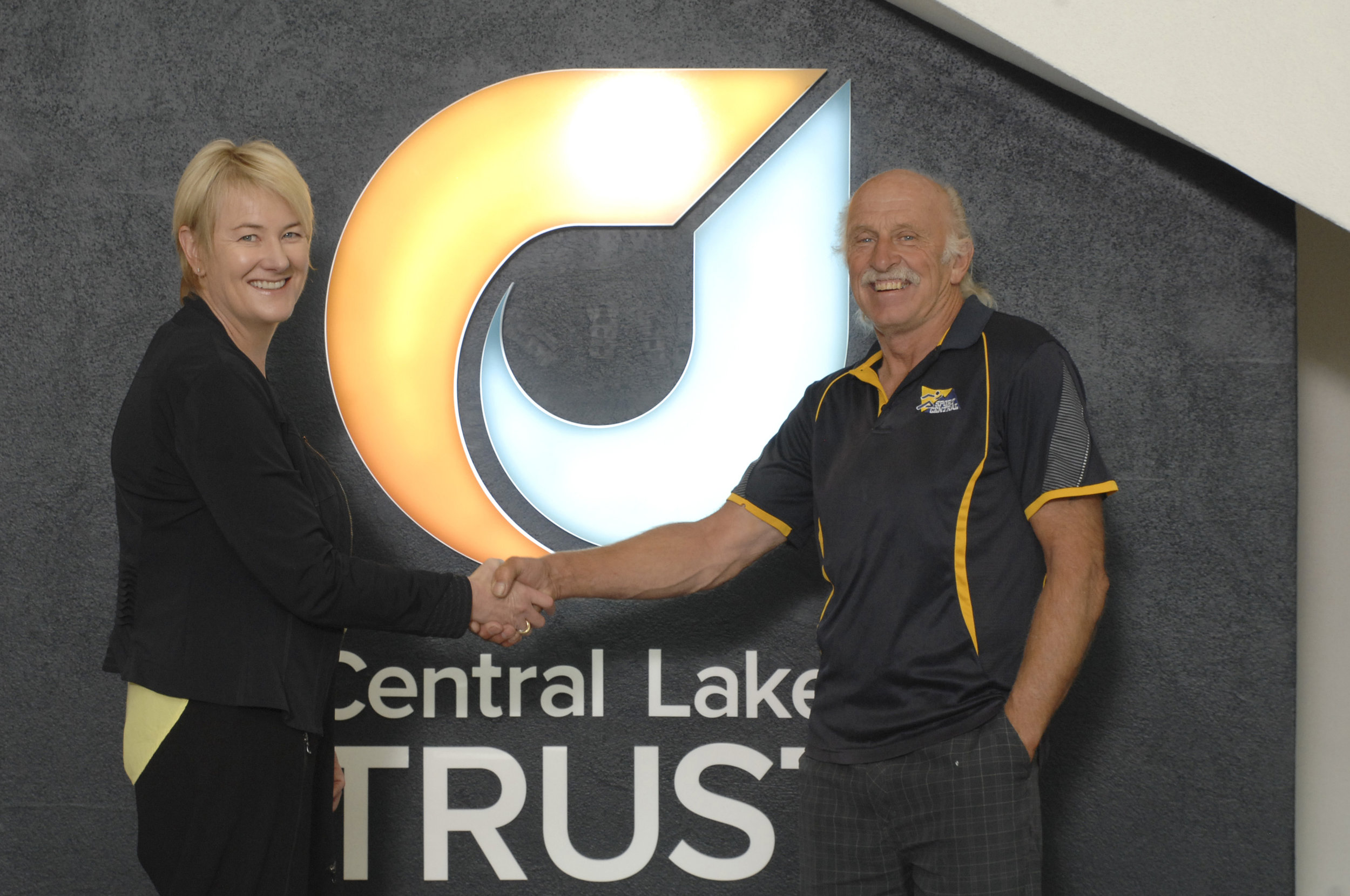 CEO Susan Finlay with Bill Godsall of Sport Central