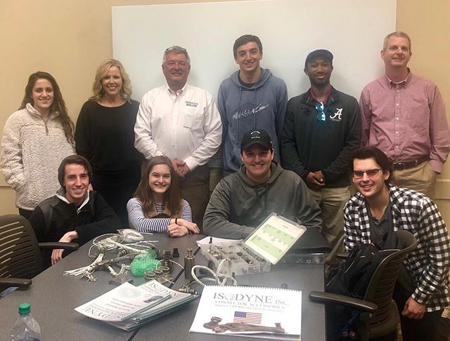 As we continue to advance and improve our electronics systems for high-altitude flight to the Kármán Line for @base11stem , we're extremely thankful for the mentors and sponsors who've provided feedback and expertise on our journey.  This year, Isodyne, Inc., Electronic Marketing Associates, and SEA Wire & Cable visited the @univofalabama campus and provided advice as well as shock resistant connector samples for tightly-constrained OEM projects like ours! #mentormonday #b11spacechallenge #rolltide #mentor #mentorsmatter
