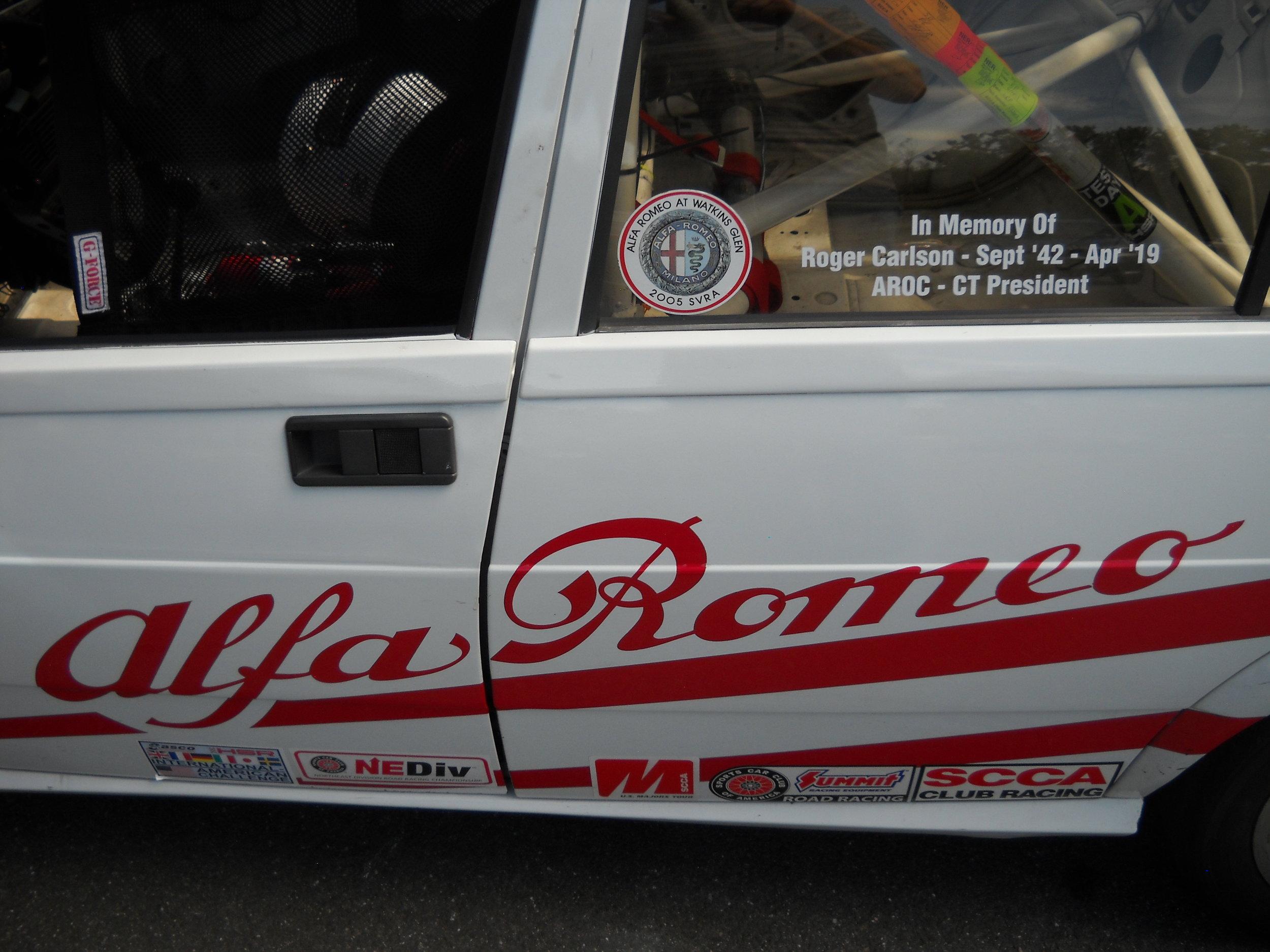 Peter Lombardi's Alfa Race Car