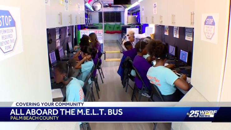 July 24, 2019 ABC 25 WPBF News Coverage for the GBDCEI MELT Bus