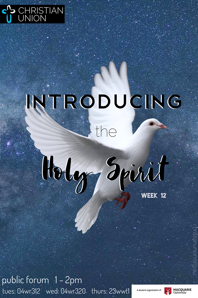 A mystery speaker stops by CU this week to give us an insight into the topic of the Holy Spirit. Get a preview of some of the huge questions we will be discussion at this year's MYC. If you haven't signed up for MYC yet, head here and get it done:  https://www.christianunion.org.au/events/2019/7/22/cu-myc-2019