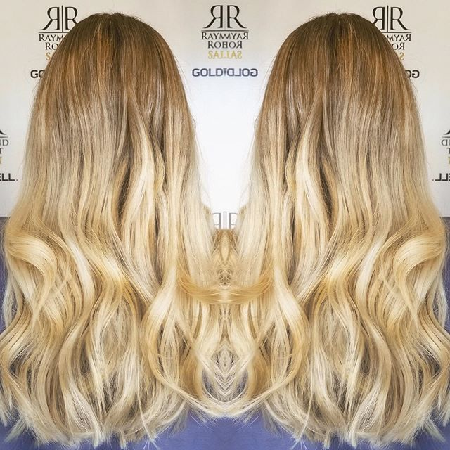 Gorgeous #goldenblonde color 🤩✨ #raymondrobertsalon